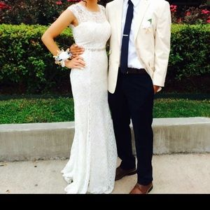 White prom dress for sale